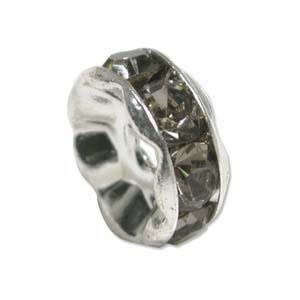 Strassrondell, Silber-Grau, 6mm, 1 Stück