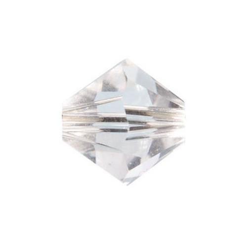 Swarovski®, Doppelkegel, Crystal, 6mm, 1 Stück