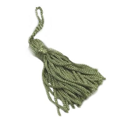 Quaste,Troddel, Tassel, Grau-grün, 5cm, 1 Stück