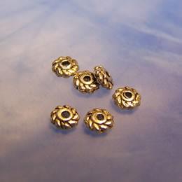 Metallperle, Wirbel, Spacer, Antik Silberfarben, 50 Stück
