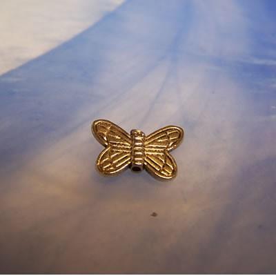 Metallperle, Schmetterling, 15mm, 1 Stück