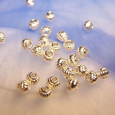 Metallperle, Wired, Helles Silberfarben, 50 Stück