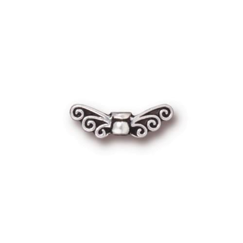 Elfenflügel minimini, Antik Versilbert, 1 Stück