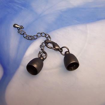 Schmuckkappel, Verschluss, Oxyd matt, 8mm, 1 Stück