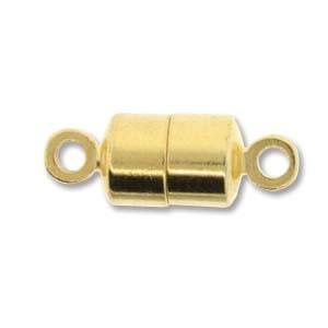 Magnetverschluss, Tube, Stark, Goldfarben, 1 Stück