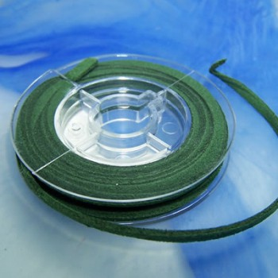 Veloursband, Tannengrün, 2,5 Meter
