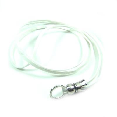 Velourbandkette, Weiß, Charmträger, 45cm