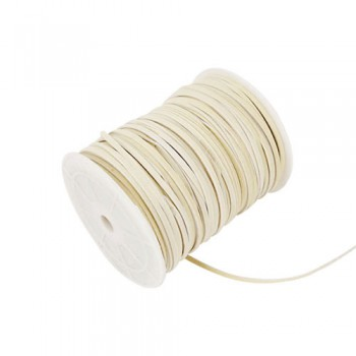 Kunstwildlederband, Creme, 3mm, 1 Meter