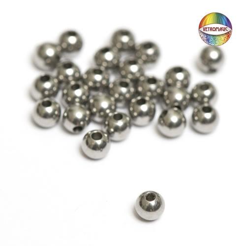 Vetromagic Perlen, Chirurgenstahl, 3mm, 25 Stück