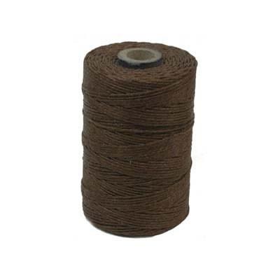 Irisches Gewachstes Leinen, Waxed Linen, Walnussbraun, 4 ply, 5g