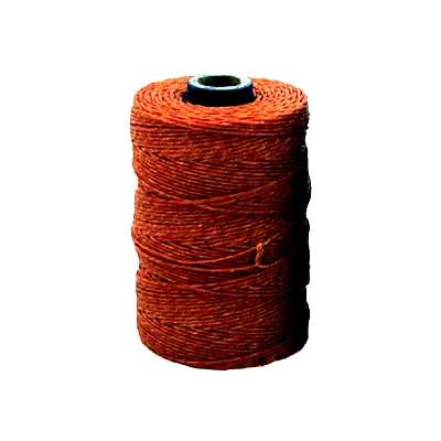 Irisches Gewachstes Leinen, Waxed Linen, Rostrot, 4 ply, 5g