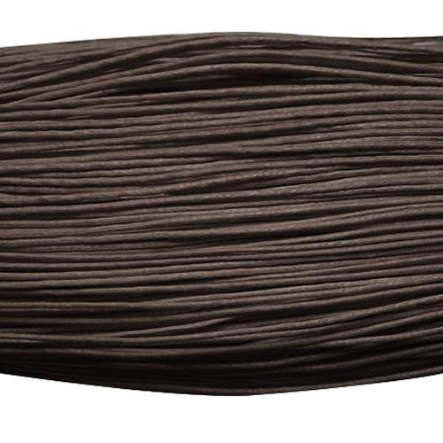 Gewachste Baumwollkordel, Dunkelbraun, 1,5mm, 10m