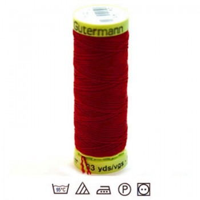 Zierstichfaden, Knopflochgarn, 30 Meter, Polyester, Rot-046
