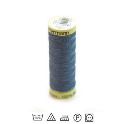 Zierstichfaden, Knopflochgarn, 30 Meter, Polyester, Blau-112