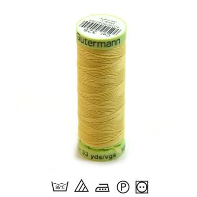 Zierstichfaden, Knopflochgarn, 30 Meter, Polyester, Gelb-325