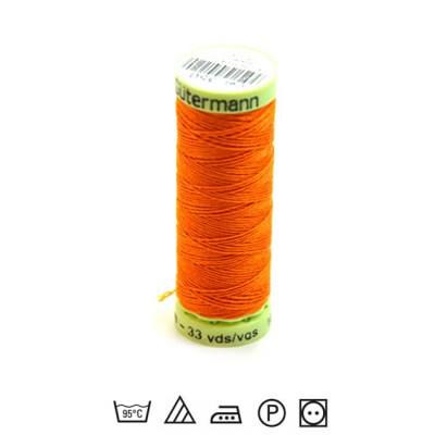 Zierstichfaden, Knopflochgarn, 30 Meter, Polyester, Orange-350