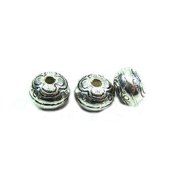 Perle, Blume, Kunststoff versilbert, 1 Stück