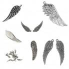 Metallanhänger, Flügel, versch. Größen, Mix, 1 Packung