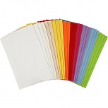 Bastelfilz-Sortiment, Blatt 20x30cm, Frische Farben, 1 Packung