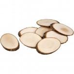 Holzscheiben, ca. 11x7,5 cm, Stärke: 8 mm, 2Stück