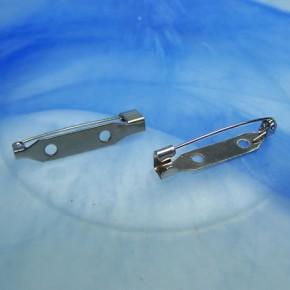 Broschennadel, 30mm, Silberfarben, 1 Stück