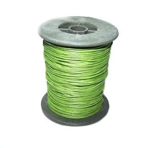 Baumwollkordell, Grün, 1mm, 1 Meter