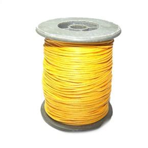 Baumwollkordell, Gelb, 1mm, 1 Meter