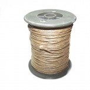 Baumwollkordell, Braun, 1mm, 1 Meter