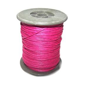 Baumwollkordell, Pink, 1mm, 1 Meter