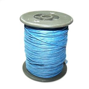 Baumwollkordell, Pastellblau, 1mm, 1 Meter