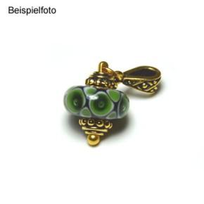 Perlkappe, Beaded, 8mm, Antik Vergoldet, 1 Stück