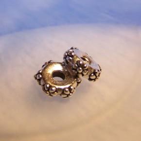 Großlochperle, Flower, 10mm, Antik Versilbert, 1 Stück