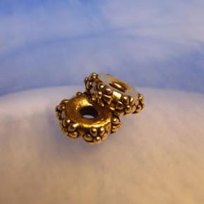 Großlochperle, Flower, 10mm, Antik Vergoldet, 1 Stück