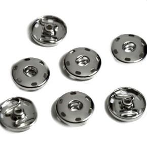Metallunterteil zum Aufnähen für Double Beads Easy Button, 10 St