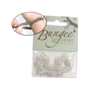 Bungee Armband, Helles Silberfarben, 1 Stück