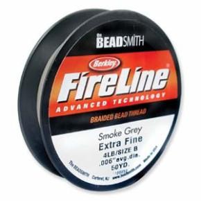 Fireline Beading Thread, Berkley, Smoke Grey, 45Meter, 1 Spule