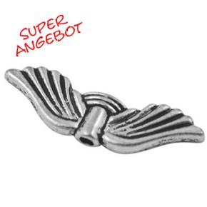 Engelsflügel, Griego, Antik Silberfarben, 21mm, 25 Stück