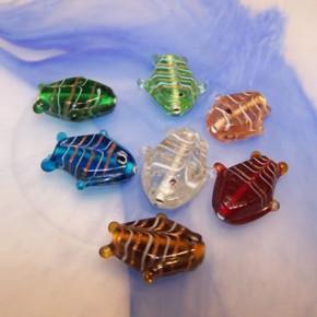Glasperlenmix, Fische, Groß