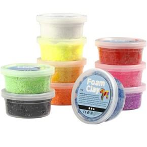 Foam Clay® - Sortiment, Sortierte Farben, 10x35g
