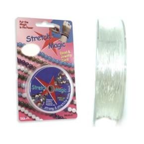 Stretch Magic, Elastikband, 1mm, Klar, 5 Meter