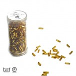 Stiftperle, Gedreht, Goldfarbig, 7mm, 1 Dose