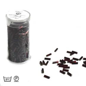 Stiftperle, Gedreht, Dunkelrot, 7mm, 1 Dose
