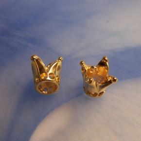 Gold-Crown-Charm, Krone, Froschkrone, Goldfarben