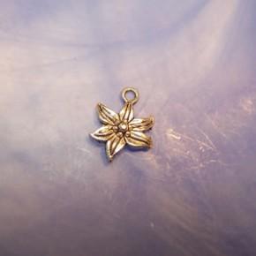 Metallanhänger, Blume, Edelweiß, Silberfarben, 1 Stück