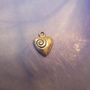 Herzanhänger, Spirale, Silberfarben, 1 Stück