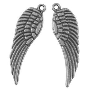 Metallanhänger Flügel, Antiksilberfarben, 30mm, 1 Stück