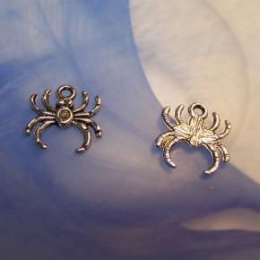 Metallanhänger, Spinne, Silberfarben, 1 Stück