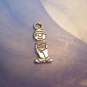 Metallanhänger, Junge, Silberfarben, 1 Stück