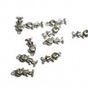 Metallanhänger, Junge/Boy, Silberfarben, 1 Stück