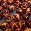 Holzperle, Rund, 7mm, lila Schattierung